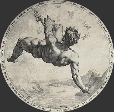 Chute de Phaeton -Goltzius
