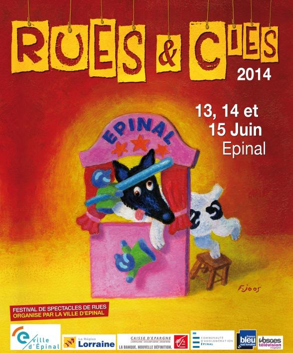 Affiche Rues et Cies 2014